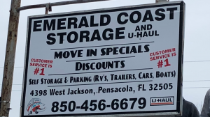 Emerald Coast Storage/Parking and U-Haul -Jackson Facility at  4398 West Jackson Street, Pensacola, FL