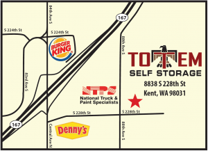 Image of Totem Self Storage Facility on 8838 South 228th Street  in Kent, WA - View 3